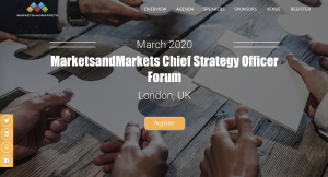 MarketsandMarkets CSO Forum 2020, London