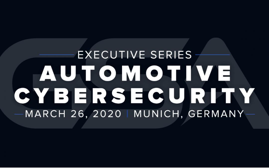 GSA Automotive Cybersecurity Conference – now Live Webcast!